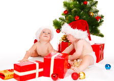 Santa kids Stock Images