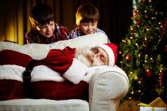 Santa and kids Royalty Free Stock Photography
