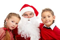 Santa with kids Stock Photos