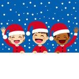 Santa Kids Banner Stock Photography