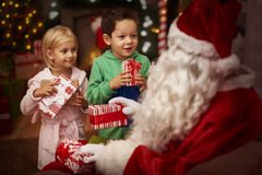 Santa with kids Royalty Free Stock Images