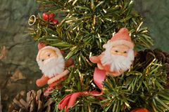 Santa Klaus and Christmas tree Stock Images