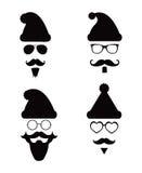Santa Klaus-de stijl van het maniersilhouet hipster Royalty-vrije Stock Foto's
