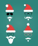 Santa Klaus Fashion Silhouette Hipster Style Royalty Free Stock Images
