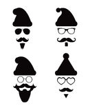 Santa Klaus Fashion Silhouette Hipster Style Royalty Free Stock Photos
