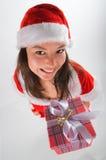 Santa-klaus gives all gifts Royalty Free Stock Image