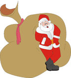 Santa Klaus ha un resto Fotografia Stock