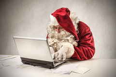 Santa klaus having an idea Royalty Free Stock Photo