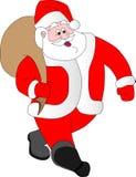 Santa Klaus porte des cadeaux illustration de vecteur