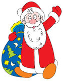 Santa klauzul royalty ilustracja