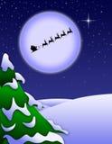 Santa klauzula Bożenarodzeniowa noc Zdjęcie Royalty Free