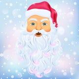 Santa klauzula nad śnieg royalty ilustracja