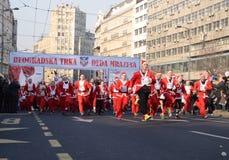 Santa klauzula rasa w Belgrade, Serbia Obrazy Stock