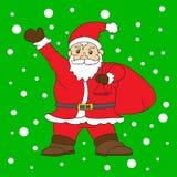 Santa klauzula z śnieżnym tłem dla Christmas dnia royalty ilustracja
