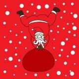 Santa klauzula z śnieżnym tłem dla Christmas dnia ilustracji