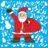 Santa klauzula z błękitnym tłem dla Christmas dnia royalty ilustracja