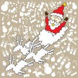 Santa klauzula z brown tłem dla Christmas dnia ilustracji