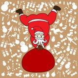 Santa klauzula z brown tłem dla Christmas dnia royalty ilustracja