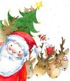Santa klauzula zabawne Mikołaja witamy w karty nowego roku ilustracji