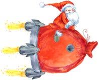 Santa klauzula zabawne Mikołaja witamy w karty nowego roku royalty ilustracja