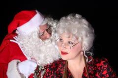 Santa klauzule szeptać zdjęcie royalty free