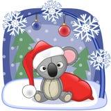 Santa Koala διανυσματική απεικόνιση
