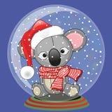 Santa Koala Photos libres de droits