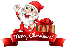 Santa label Royalty Free Stock Image