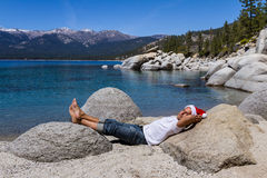 Santa in Lake Tahoe Stock Photos