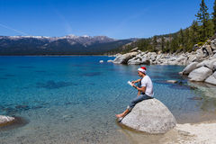 Santa in Lake Tahoe Royalty Free Stock Image