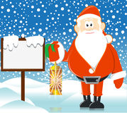 Santa with lamp Royalty Free Stock Image