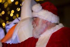 Santa Lancaster Tree Lighting arkivbilder