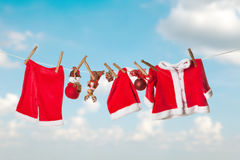 Santa laundry Stock Image