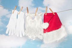 Santa laundry Royalty Free Stock Photos