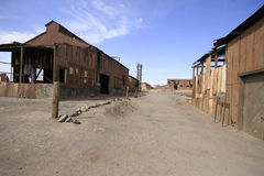 Santa Laura Humberstone salpeterbearbetningsanläggning, Iquique, Chi Fotografering för Bildbyråer