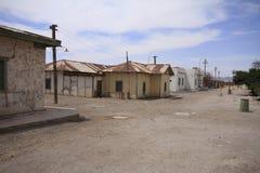 Santa Laura Humberstone salpeterbearbetningsanläggning, Iquique, Chi Royaltyfri Bild