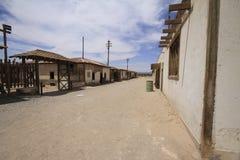 Santa Laura Humberstone salpeterbearbetningsanläggning, Iquique, Chi Arkivfoto