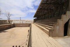 Santa Laura Humberstone salpeterbearbetningsanläggning, Iquique, Chi Arkivbild