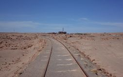 Humberstone Saltpeter Worksm in northern Chile. The Santa Laura refinery in the abandoned Humberstone saltpeter works. This abandoned nitrate town was extremely stock photo