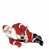 Santa Laying on his Side Royalty Free Stock Image