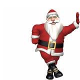 Santa Leaning Stock Image