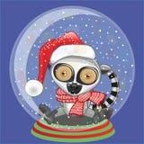 Santa lemur royalty ilustracja