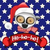 Santa Lemur Royalty Free Stock Image