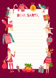 Santa letter2 royalty free illustration