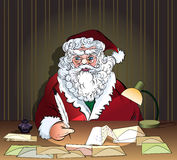 Santa and letters Royalty Free Stock Images