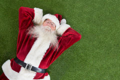 Santa lies, sleeps and has a nice dream Stock Image