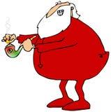 Santa lighting his pot pipe Royalty Free Stock Images