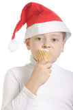 Santa like ice-cream Royalty Free Stock Image