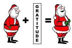 Santa Likes Gratitude ilustración del vector