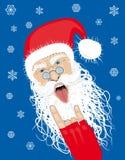 Santa likes to rock. Vector rock and roll santa Stock Photo